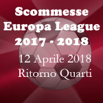 Scommesse partite di ritorno dei Quarti di FInale della Europa Lea di giovedì 12 Aprile 2018