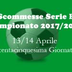 scommesse della Serie B di venerdì 13 e sabato 14 Aprile 2018