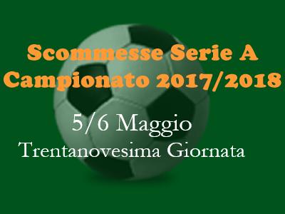Consigli per le scommesse 1x2 della Serie A di sabato 5 e domenica 6 Maggio 2018