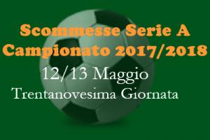 Scommesse della Serie A di sabato 12 e domenica 13 Maggio 2018