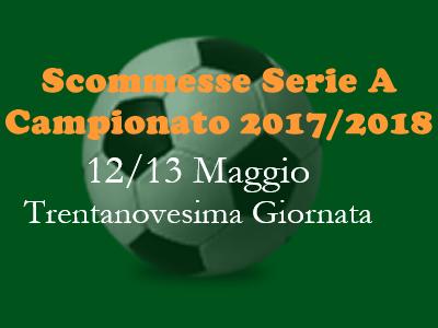 Consigli per le scommesse 1X2 della Serie A di sabato 12 e domenica 13 Maggio 2018