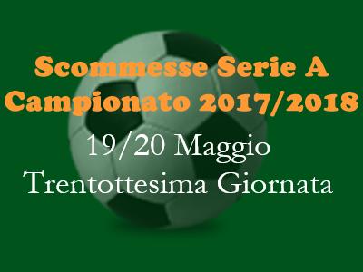 Pronostici e scommesse della Serie A di sabato 19 e domenica 20 Maggio 2018